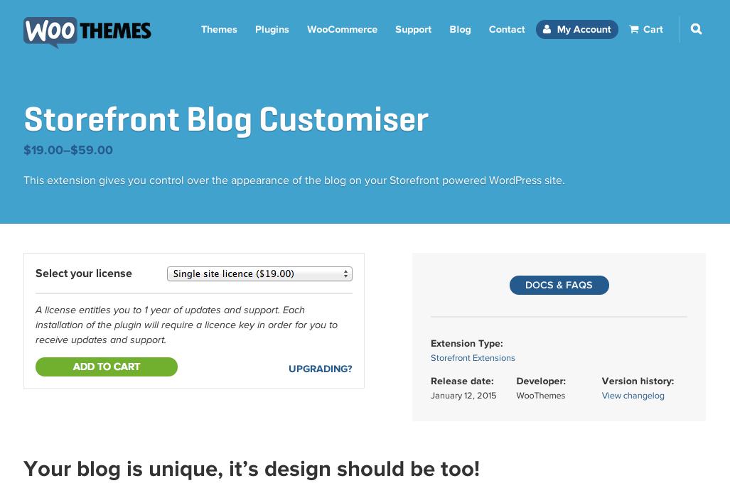 Storefront-Blog-Customizer