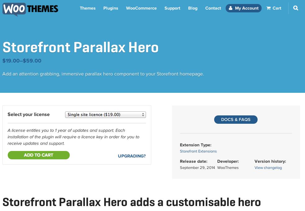 Storefront-Parallax-Hero
