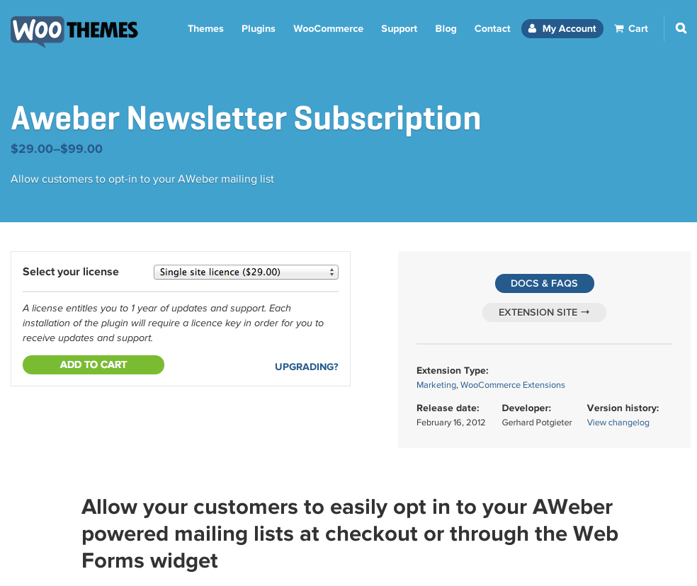 WooCommerce-Aweber-Newsletter-Subscription