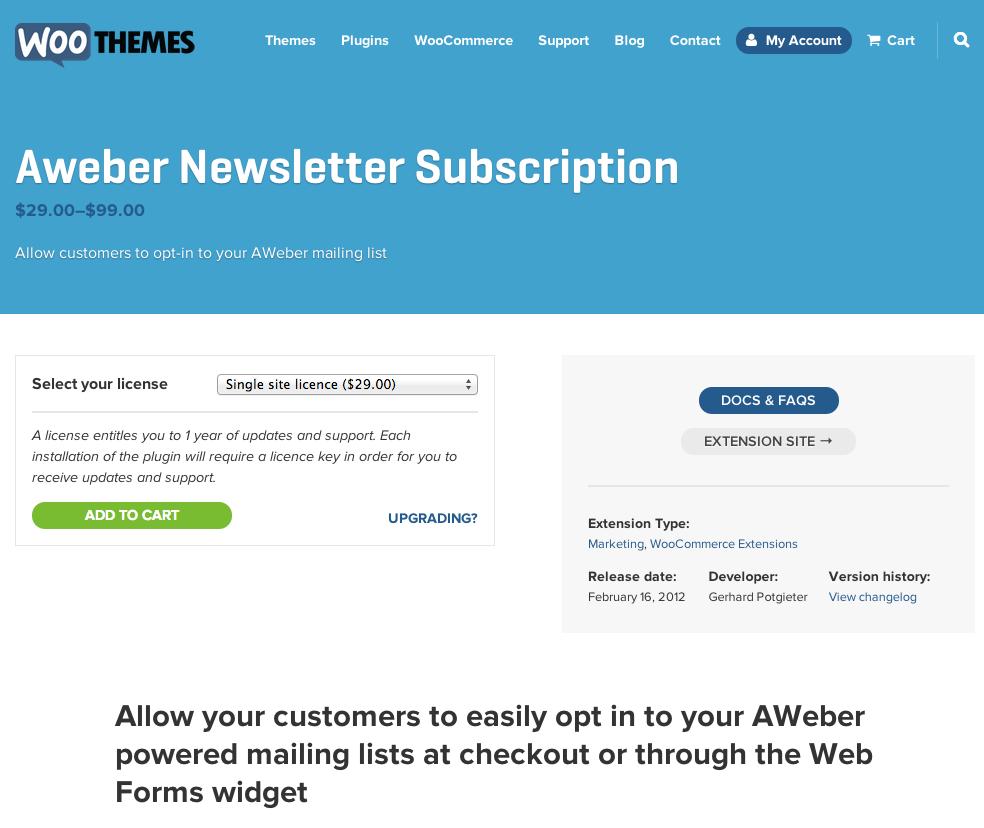 WooCommerce-Aweber-Newsletter-Subscription