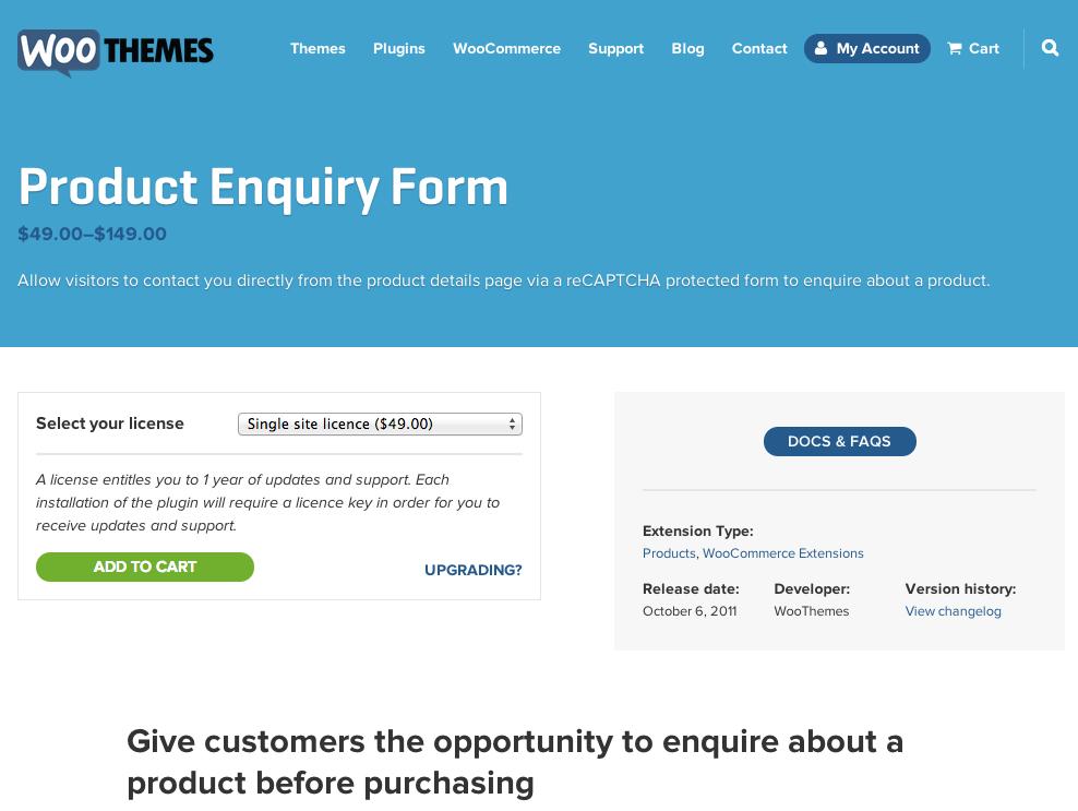 WooCommerce-Product-Enquiry-Form