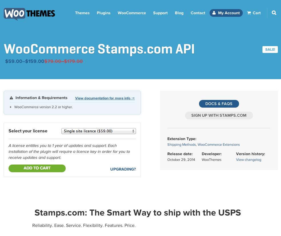 WooCommerce-Stamps.com-API