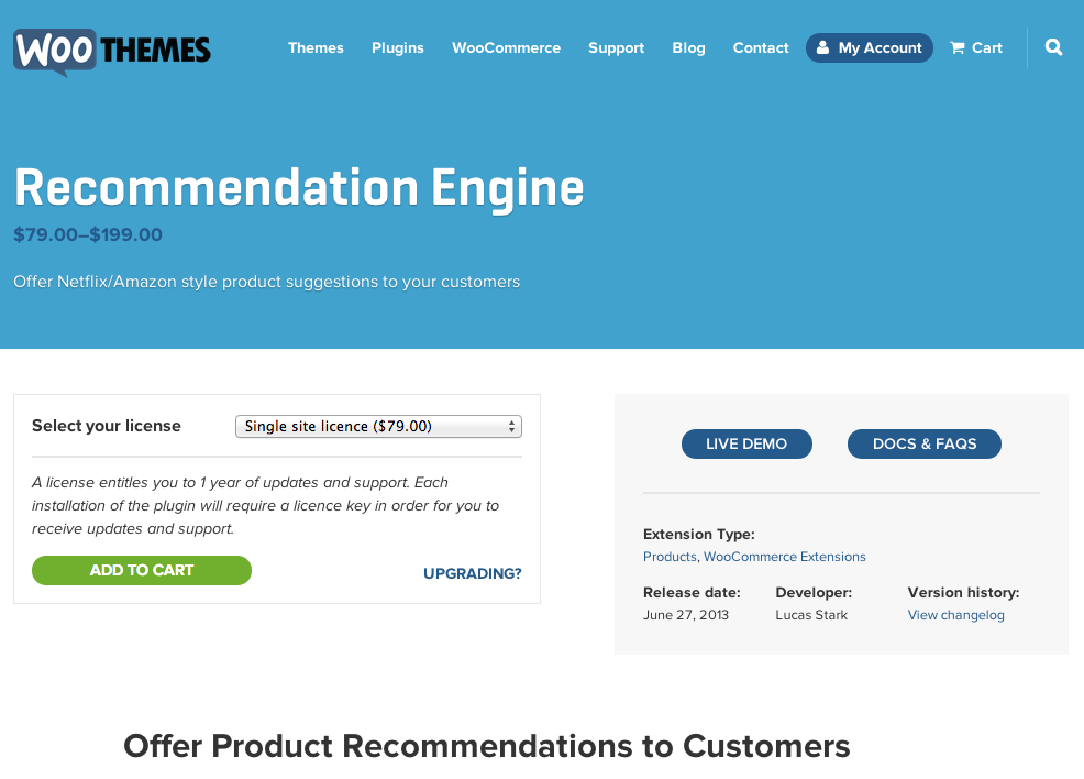 Woocommerce-Recommendation-Engine