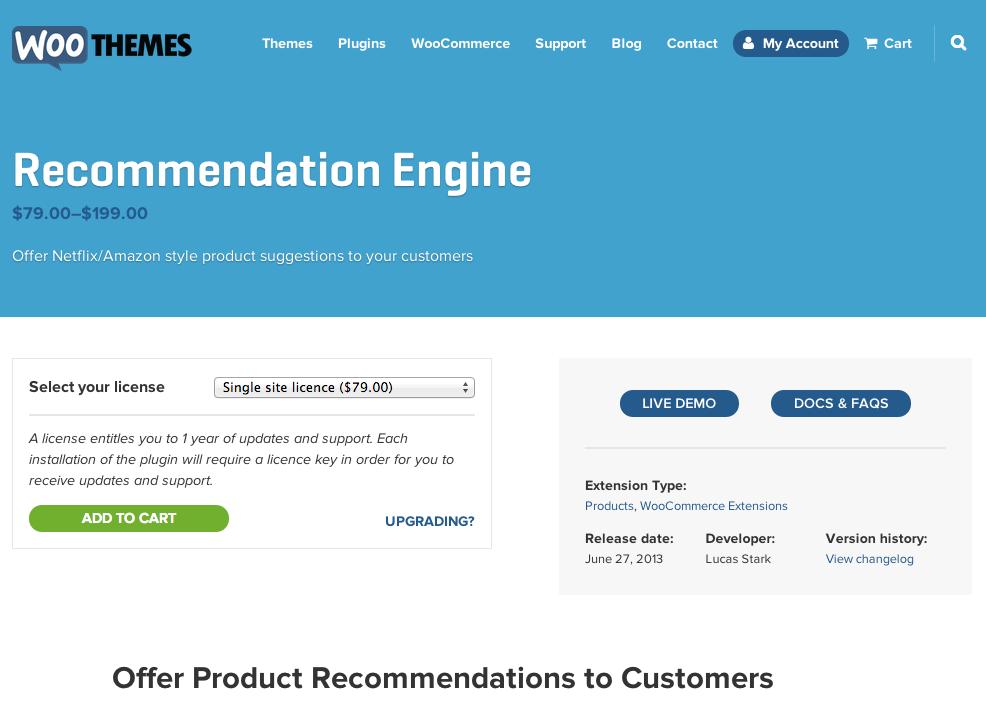 Woocommerce-Recommendation-Engine