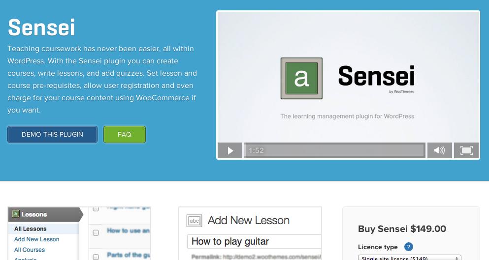 WooThemes Sensei Learning Management System for WordPress - WP Base