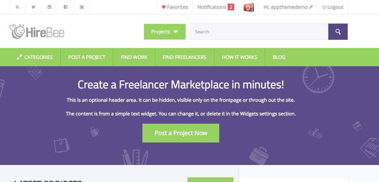 Freelance marketplace theme free фрилансеры веб программисты