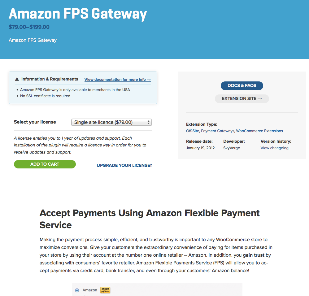 WooCommerce-Amazon-FPS-Payment-Gateway