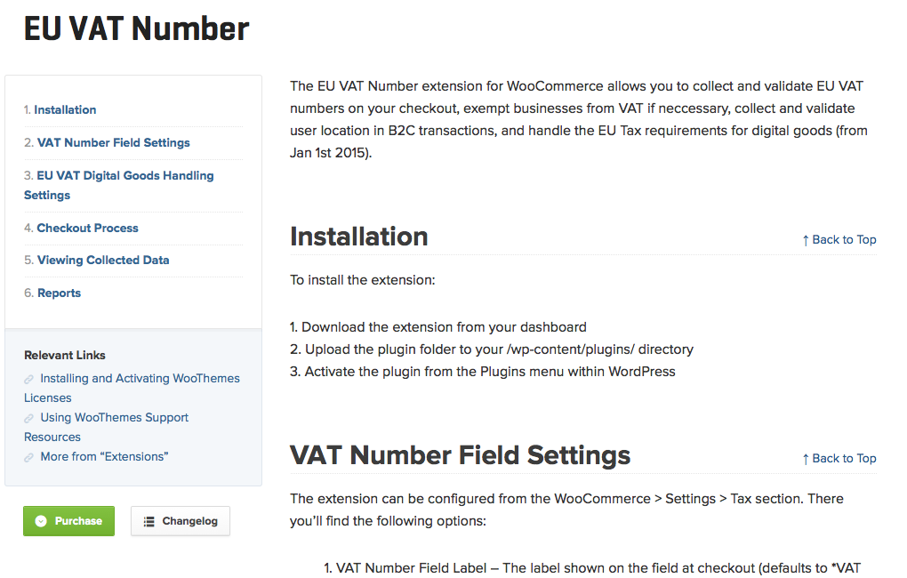 WooCommerce-EU-VAT-Number-Documentation