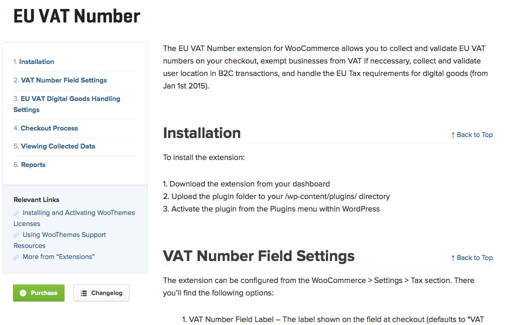WooCommerce-EU-VAT-Number-Documentation
